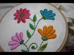 Hand Embroidery Designs | Basic design tutorial | Stitch and Flower-135 - YouTube
