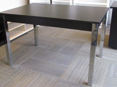 Zoom dining table in wenge w/ chrome legs. Was $499 Now $299. on scan basics  http://scanhome.com/basics/social-gallery/img-6956