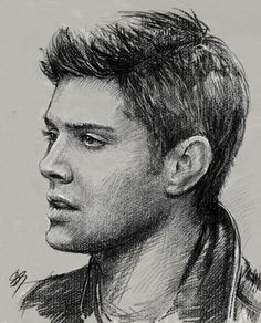 DeviantArt: More Collections Like Sam Winchester - Supernatural by griffouine Supernatural Drawings, Supernatural Fan Art, Drawing Sketches, Art Drawings, Horse Drawings, Drawing Art, Pencil Drawings, Celebrity Drawings, Pencil Portrait