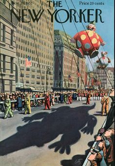 NYC. The New Yorker Magazine - November 29, 1952  //  art by Arthur Getz.