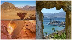 Eilat mountains collage