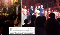 Vice-president-elect Mike Pence, a self-confessed man of the people, has been delivered a message directly from the cast of Hamilton - after earlier being booed by the audience.