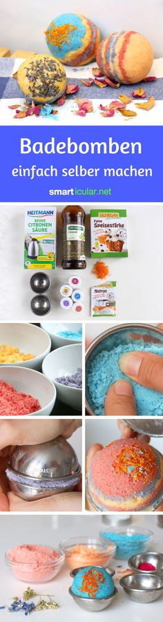 Sparkling bath bombs make simple household remedies yourself : Who doesn& like to enjoy a relaxed full bath that relaxes and nourishes the skin naturally? For example with these inexpensive bath bombs! Diy Presents, Diy Gifts, Home Remedies, Natural Remedies, School Snacks For Kids, Diy Beauté, Bomb Making, Nails Polish, Diy School Supplies
