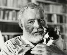 Ernest Hemingway 16 Famous Writers And Their Cats Ernest Hemingway, Hemingway Cats, Hemingway Quotes, Famous Movie Quotes, Quotes By Famous People, People Quotes, Polydactyl Cat, Taylor Swift Quotes, Witty Quotes