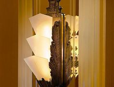 Lovely Art Deco Sconce in The Ambassador Hotel, Milwaukee, WI