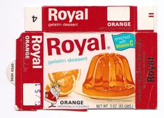 Vintage Royal Orange Gelatin Box by gregg_koenig, via Flickr