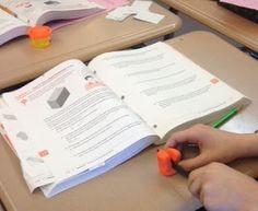 : Slicing Three-Dimensional Figures- CC using Play-Doh! Math Teacher, Math Classroom, Teaching Math, Teacher Stuff, Teaching Ideas, Future Classroom, Classroom Organization, Classroom Management, Maths
