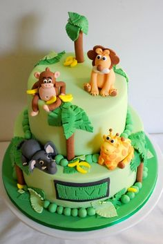 Levi's Naming Day Jungle Cake