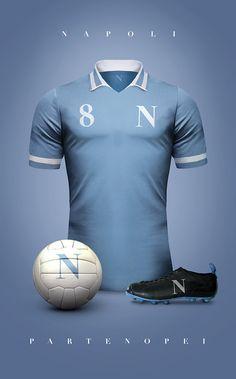 Vintage Clubs II on Behance - Emilio Sansolini - Graphic Design Poster - Napoli… Vintage Football Shirts, Retro Football, World Football, Retro Shirts, Soccer Kits, Football Kits, Football Jerseys, Camisa Retro, Camisa Vintage