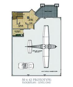 Hangar Size: 50 x 42 Home Building Design, House Design, Airport Design, House Floor Plans, Barndominium, Hanger, Airplanes, How To Plan, Airplane House