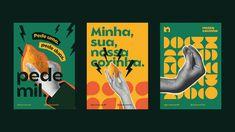 Nossa Coxinha Branding and Visual Identity Graphic Design Trends, Web Design, Graphic Design Tutorials, Graphic Design Branding, Graphic Design Posters, Identity Design, Graphic Design Inspiration, Visual Identity, Typography Design