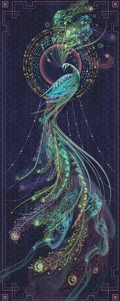 though this is a peacock something like this in reds & oranges would make an awesome firebird illustration Art Fractal, Peacock Tattoo, Tattoo Feather, Tattoo Bird, Real Tattoo, Wow Art, Beautiful Birds, Animals Beautiful, Beautiful Pictures
