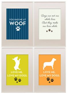 Free Printables:: dog quotes