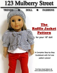 ruffle jacket pattern for American girl dolls