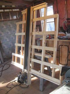 Make the lower support only to have plywood high enough for saw to clear Home made Panel saw …..a handy part of the workshop | WoodworkerZ.com
