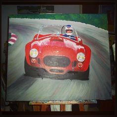 Instagram photo by @Roberto Flores Yoldi via ink361.com Another of my #artworks: #painting on #canvas of #Cobra 427 Racing #sportscar #classiccar by #CarrolShelby.
