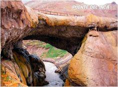 Místico y deslumbrante, el reconocido Puente del Inca arrastra una historia plena de leyendas que intentan explicar su extraña formación. Situado en la Cordillera de Los Andes, en el noroeste de la provincia de Mendoza, este puente rocoso resguarda numerosas vertientes naturales por donde surgen aguas curativas de entre 34 y 38 grados centígrados.