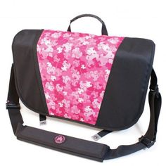 Sumo 16 Inch Messenger Bag - Black and Pink - ME-SUMO33MBX