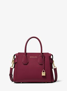 Our Mercer belted satchel is a study in understated glamour. Crafted from pebbled leather, this timeless design opens to a compact interior sized to store just the essentials. Adjust its shoulder strap to wear it as a crossbody bag. Kate Spade Handbags, Handbags Michael Kors, Michael Kors Bag, Luxury Bags, Luxury Handbags, Designer Handbags, Satchel, Crossbody Bag, Michael Kors Collection