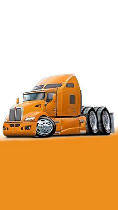 Cartoon Car Drawing, Cartoon Art, Cars Toons, Cool Car Drawings, Custom Big Rigs, Truck Art, Vand, Car Sketch, Car Humor
