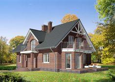Дом односемейный, одноэтажный с жилой мансардой - LK&732 Style At Home, Cottage Homes, Home Fashion, House Plans, Photo Wall, Exterior, Outdoor Structures, House Design, Cabin