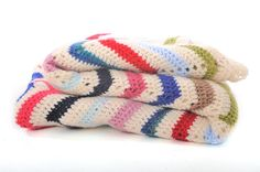 crocheted chevron blanket// I need to find someone to make me one of these!