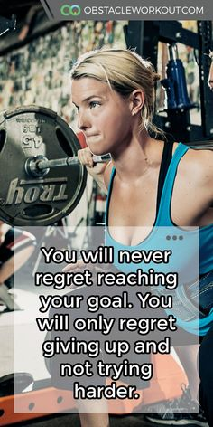 You will never regret reaching your #goal. You will only regret giving up and not trying harder.