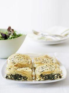 Spinach and feta tart  http://gourmettraveller.com.au