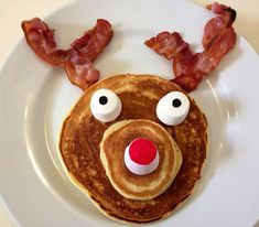 Reindeer Pancakes Christmas Food Kids