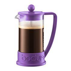 BRAZIL French Press coffee maker, 3 cup, 0.35 l, 12 oz Purple