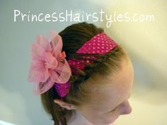Simple And Fancy Headband    A quick hairstyle idea to add some flair to a simple headband and braided bangs......
