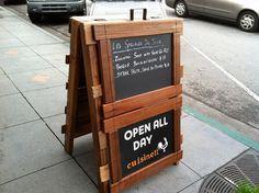 Sandwich Board w/ Chalk Board