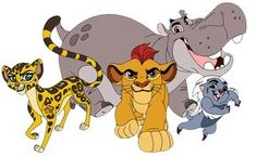 Kion, Bunga, Fuli and Beshte png clip art files