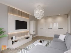 Фото интерьер гостиной из проекта «Интерьер двухкомнатной квартиры 54 кв.м. в современном стиле»
