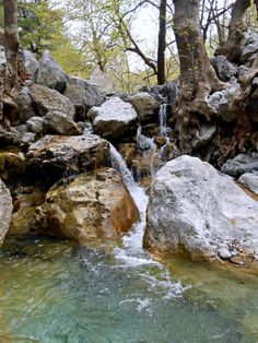 Hiking the Agali gorge at Dirfys mountain, Evia island, Greece Beautiful Scenery Pictures, Beautiful Flowers Wallpapers, Nature Pictures, Beautiful Places, Watercolor Landscape, Landscape Art, Landscape Paintings, Landscape Photography, Waterfall Paintings