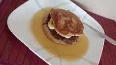 Nutella Banana Stuffed Spelt Pancakes.  Shhhhh.... I made this for myself. Sweet indulgence :D