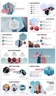 Business Presentation Templates, Presentation Design Template, Business Powerpoint Templates, Blue Color Schemes, Ui Kit, Magazine Design, Layout Design, Illustrator, Design Inspiration