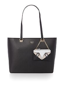 Kizzy tote shoulder with keychain bag/Guess