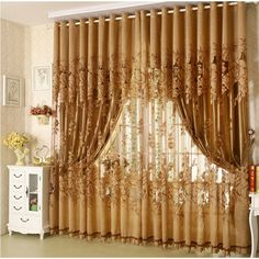 {Byetee} High Quality Sale Living Room tulle window curtains kitchen window curtains door curtain Burnout European Curtains