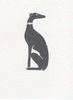 WeThinkSmall: Greyhound Linocut Print 5 x 7