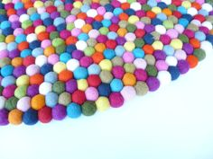 Felt Ball Rug ... that'll take a lot of felt balls.