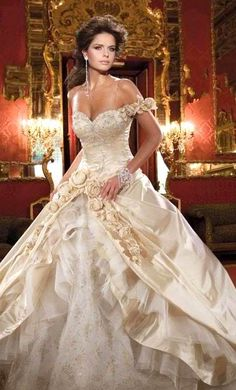 Abed Mahfouz Wedding Dress. this is the closest dress to belle's!!!!!! love it!!!! maybe a little less sweetheart...