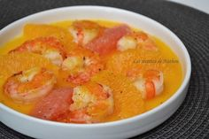 Scampi au beurre d'agrumes, orange et pamplemousse, épicés au poivre long de Java
