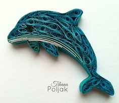 Quilling dolphin, love quilling, quilling by Tihana Poljak