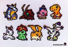 Digimon Adventure perler beads by PixelenaMV on deviantART