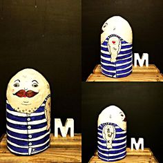 swim suit zampano, paper mache art by molekuele, Austria Paper Clay, Paper Mache, Paper Art, Sculpture Clay, Sculptures, Objects, Swim, Mustache, Austria