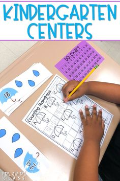 Centers for kindergarten that cover math and ELA skills! Printable and engaging center activities for the entire year!