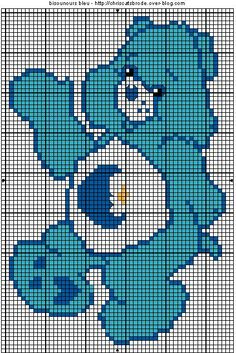 Carebears Free  Cross Stitch Pattern Chart