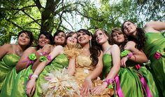 A Quinceanera is a wedding like celebration for young ladies who turn 15 in the Latino culture.