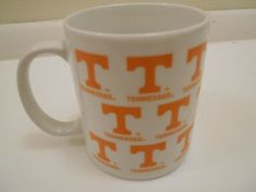 University Of #Tennessee #Volunteers White Mug Cup Officially Licensed  #OfficiallyLicensedCollegiateProduct #TennesseeVolunteers